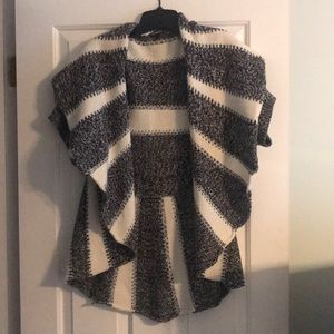 Express black and white sweater